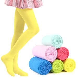 彩桥儿童舞蹈袜天鹅绒彩桥儿童连裤袜女薄款白色打底裤袜女童丝袜3-5-7-9-12岁以上