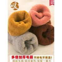 加厚加绒羊毛袜子女秋超厚保暖毛圈袜月子睡眠袜中筒袜毛巾袜