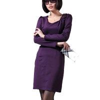 [当当自营] 波特唐 2011秋款新款手工订花收腰长袖连衣裙 BT0832