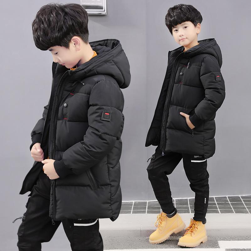 童装男童棉衣中长款中大童儿童棉袄冬装外套潮衣韩版