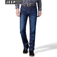 JEEP吉普男式牛仔裤春夏新品轻薄弹力商务休闲长裤中青年舒适薄款修身裤子