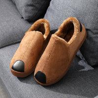 厚底棉拖鞋女包跟外穿时尚保暖家用平底防滑室内拖鞋男
