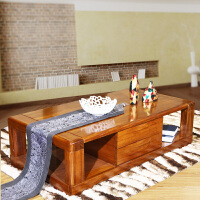 新中式纯实木茶几 现代客厅全实木家具胡桃木茶几茶桌
