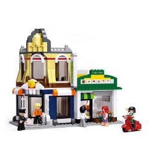 【当当自营】小鲁班模拟城市系列儿童益智拼装积木玩具 咖啡厅&酒店M38-B0575
