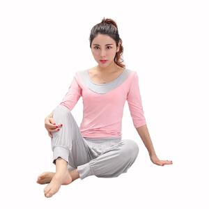 物有物语 瑜伽套装 女室内健身瑜伽服显瘦套装莫代尔灯笼裤长袖短袖运动健身服上衣夏季舞蹈服瑜伽服