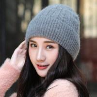 帽子女韩版毛线帽女生保暖针织棉帽百搭甜美可爱潮帽