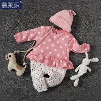 婴儿连体衣服宝宝新生儿衣服季0岁3个月棉春装季冬季新年