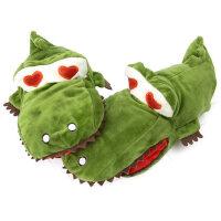 加绒可爱手套女 学生 鳄鱼萌圣诞礼品生日棉卡通手套女 保暖