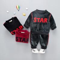 女童宝宝套装秋冬款两件套男童装婴幼儿冬装卫衣1-2-3岁外套