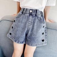 女童牛仔短裤夏装洋气儿童热裤夏季小女孩薄款裤子潮