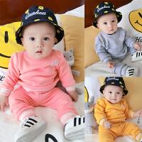 婴儿童装男童套装冬装女宝宝长袖卫衣儿童运动小童新生儿两件套