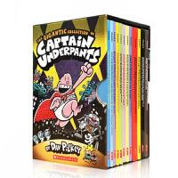 顺丰发货 英文原版绘本书The Gigantic Collection of Captain Underpants 内裤超人12册中小学阅读故事漫画英语章节书获奖文学 Dav Pilkey