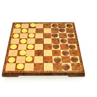 中号仿木制国际象棋西洋跳棋磁铁折叠棋盘立体棋子UB国际象棋4856-C