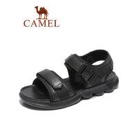 camel骆驼男鞋2019夏季新品凉鞋男真皮软底户外韩版轻盈牛皮休闲沙滩鞋