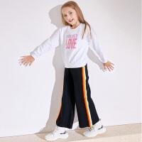小猪班纳童装女童套装冬季新款休闲运动风长袖卫衣宽松裤子两件套
