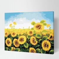 加厚框 diy数字油画客厅风景花卉动漫人物系列大幅手绘装饰画 儿童益智手绘油画