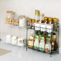 居家家铁艺调料架调味品置物架厨房用品收纳架台面落地调味料架子