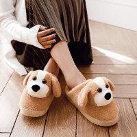 棉拖鞋女士包跟可爱儿童室内厚底防滑保暖毛毛加绒居家用