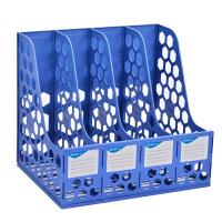 广博(GuangBo)稳固耐用四联文件框/文件栏/文件架 蓝色WJK9399-L当当自营