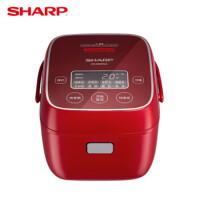 夏普(SHARP)微电脑电饭煲 2L复合内胆 24H预约触摸操控 多功能智能电饭锅 KS-D20FGA-R 蜜茜红