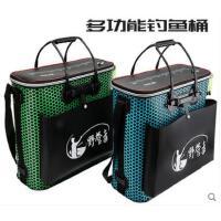 手提钓鱼桶鱼箱EVA多功能加厚鱼护桶钓鱼桶折叠装鱼桶活鱼桶