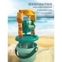 儿童沙滩玩具宝宝加厚软胶铲子和桶小孩沙漏挖沙土玩沙子套装工具