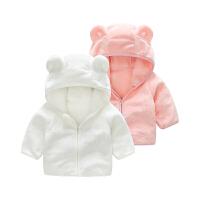 婴儿衣服春6月0岁宝宝新生儿上衣秋冬季开衫外出外套新年