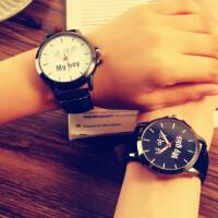 韩国中学生女表韩版潮 流行时尚原宿复古风个性潮男表情侣手表