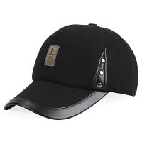 秋冬季新款帽子男士户外保暖帽加厚韩版中老年人棒球帽