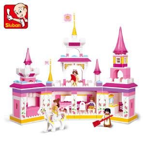 【当当自营】小鲁班粉色梦想女孩系列儿童益智拼装积木玩具 公主梦幻城堡M38-B0251