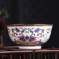 5英寸餐具碗家用骨瓷碗单个金边碗碟套装米饭碗大面碗 中式回礼碗