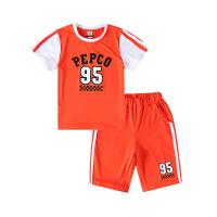 【2件5.5折到手价:98】小猪班纳童装男童篮球短袖体恤运动裤短裤中大童圆领短袖针织套装