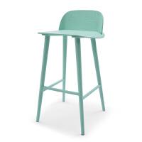 实木吧椅 北欧设计师家具吧台椅高脚凳现代简约时尚咖啡椅白蜡木