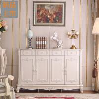 欧式鞋柜多功能象牙白色雕花实木组装两门三门四门大容量鞋柜定制 组装