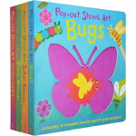 英文原版 Pop out Stencil Art系列 4册 纸板立体模型书 儿童模板艺术操作书