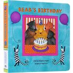 英文原版 Bear's Birthday 纸板书 Barefoot