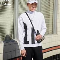 李宁卫衣男士运动时尚系列套头衫圆领宽松休闲秋季运动服AWDP285