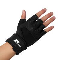 半指健身手套透气加长护腕男士运动骑行器械防滑训练锻炼女
