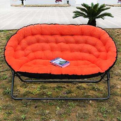 懒人沙发欧式双人布艺沙发单人沙发叠沙发椅家用休闲椅 桔色 双人 大件商品请联系客服补运费,部分商品,分类为定制定金,下单前请咨询客服,否则无法发