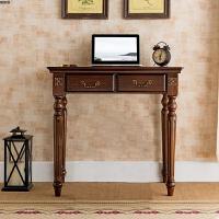 美式书桌简约实木用办公桌学生写字台欧式电脑台式桌卧室桌子