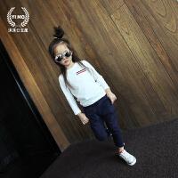 女童打底衫2017秋冬新款童装内衣 韩版潮百搭纯棉长袖打底T恤衫