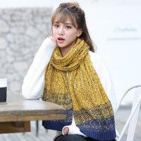 男女学生情侣针织围脖韩版男士围巾百搭长款加厚毛线围巾
