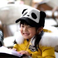 儿童帽子女韩版潮时尚可爱儿童熊猫帽子男女童保暖鸭舌棒球帽