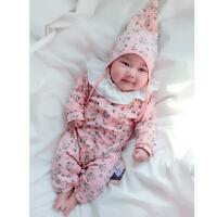 婴儿连体衣服宝宝新生儿0岁1个月7季1装冬季冬装外出睡衣