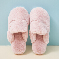 棉拖鞋男女秋冬季保暖防滑厚底室内卡通眯眼居家毛绒拖鞋