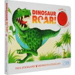 发声书0-3岁 Dinosaur Roar! 恐龙嗷呜吼 英文原版 纸板发声书 启蒙概念童书
