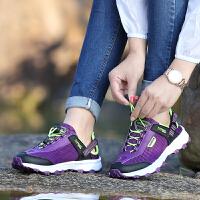 情侣网面户外鞋透气耐磨徒步鞋男女防滑旅游登山鞋轻便百搭越野鞋