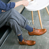 袜子男保暖防臭中筒袜男士纯棉简约商务长筒男袜高腰运动