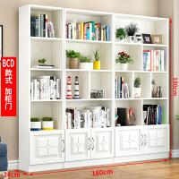 书柜书架简约现代客厅置物架落地学生省空间简易收纳柜子实木书橱