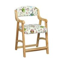写字椅 学生椅子升降椅 家用书桌凳实木靠背矫姿调节 学习椅 新原木猫头鹰